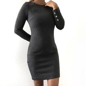 💕 Dynamite Women's Long Sleeve Gray Mini Dress 💕